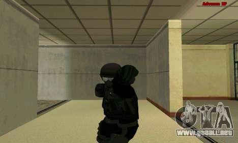La piel de la FIB SWAT de GTA 5 para GTA San Andreas quinta pantalla