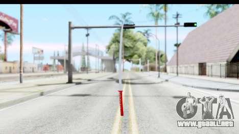 Katana from GTA Advance para GTA San Andreas tercera pantalla