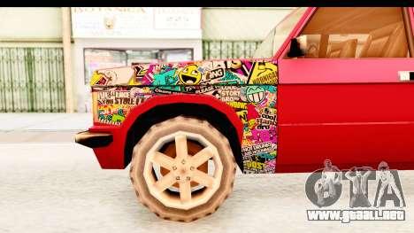 Huntley Sticker Bomb para GTA San Andreas vista hacia atrás