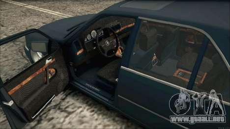 Mercedes-Benz s600 AMG para GTA San Andreas vista posterior izquierda