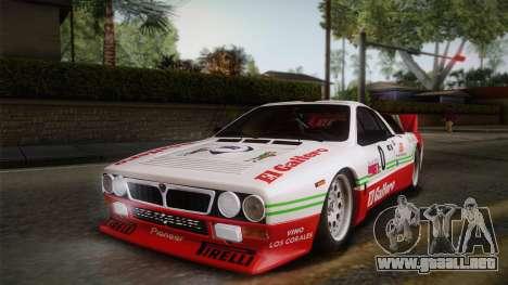 Lancia Rally 037 Stradale (SE037) 1982 Dirt PJ1 para la visión correcta GTA San Andreas