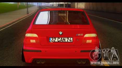 BMW M5 E39 para GTA San Andreas vista posterior izquierda
