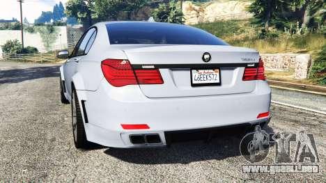 GTA 5 BMW 760Li (F02) Lumma CLR 750 [replace] vista lateral izquierda trasera