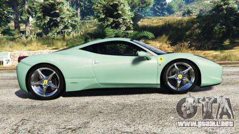 GTA 5 Ferrari 458 Italia [replace] vista lateral izquierda