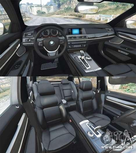 GTA 5 BMW 760Li (F02) Lumma CLR 750 [replace] delantero derecho vista lateral