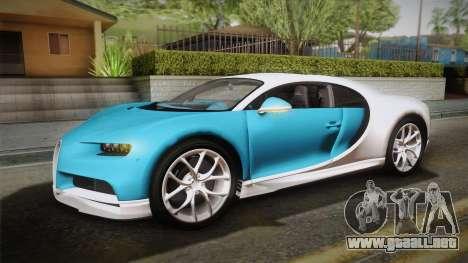 Bugatti Chiron 2017 v2.0 Dubai Plate para visión interna GTA San Andreas