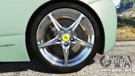 GTA 5 Ferrari 458 Italia [replace] vista lateral trasera derecha