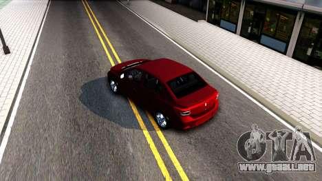 Renault Symbol 2013 para la visión correcta GTA San Andreas