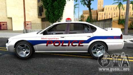 Declasse Merit Metropolitan Police 2005 para GTA San Andreas left