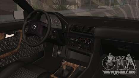 BMW Serie 5 E34 ЕК para visión interna GTA San Andreas