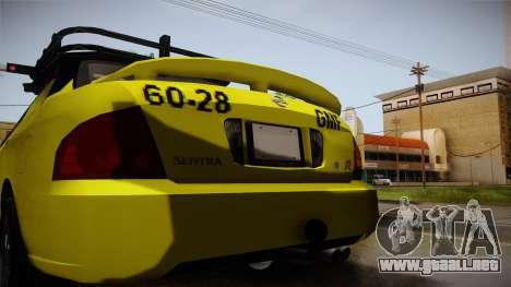 Nissan Sentra Taxi para la vista superior GTA San Andreas