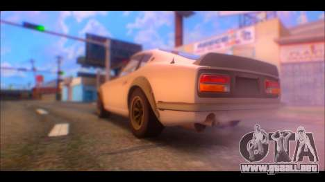 Nissan Fairlady 240Z 1971 para GTA San Andreas left