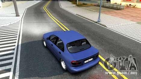 Daewoo Lanos para GTA San Andreas vista hacia atrás