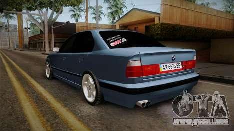 BMW Serie 5 E34 ЕК para GTA San Andreas vista posterior izquierda