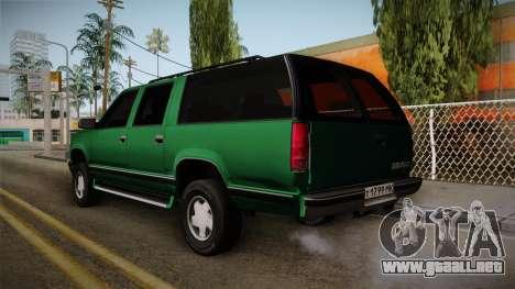 Chevrolet Suburban GMT400 1998 para la visión correcta GTA San Andreas