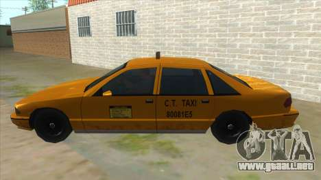 New Taxi para GTA San Andreas left