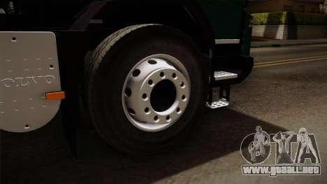 Volvo FMX dump Truck para GTA San Andreas vista hacia atrás