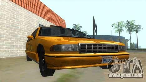 New Taxi para GTA San Andreas vista hacia atrás