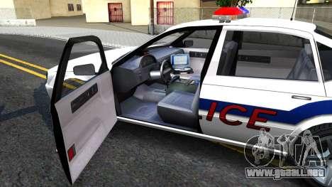 Declasse Merit Metropolitan Police 2005 para visión interna GTA San Andreas