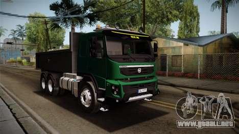 Volvo FMX dump Truck para la visión correcta GTA San Andreas