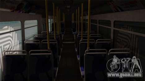 GTA V Transit Bus para visión interna GTA San Andreas
