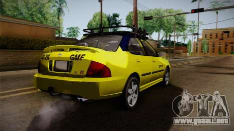 Nissan Sentra Taxi para GTA San Andreas vista posterior izquierda