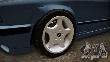 BMW Serie 5 E34 ЕК para GTA San Andreas vista hacia atrás