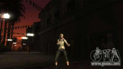 Resident Evil 6 - Shery Asia Outfit para GTA San Andreas segunda pantalla
