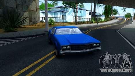 VC Xbox Sabre para GTA San Andreas vista hacia atrás