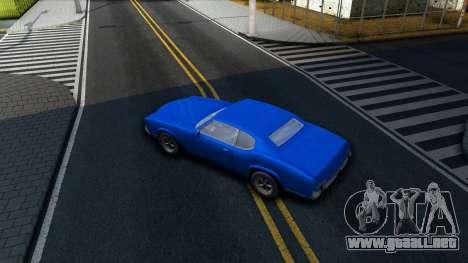 VC Xbox Sabre para visión interna GTA San Andreas