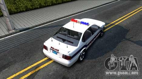Declasse Merit Metropolitan Police 2005 para GTA San Andreas vista hacia atrás
