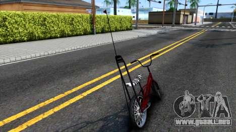 GTA SA Bike Enhance para GTA San Andreas vista posterior izquierda