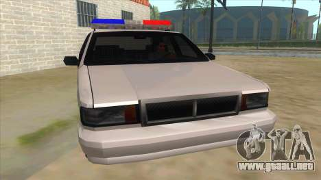 1992 Declasse Premier Angel Pine PD para GTA San Andreas vista hacia atrás