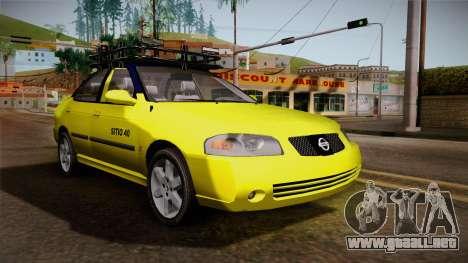Nissan Sentra Taxi para la visión correcta GTA San Andreas