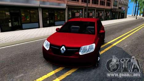 Renault Symbol 2013 para GTA San Andreas vista hacia atrás