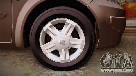 Renault Megane Sedan para GTA San Andreas vista hacia atrás