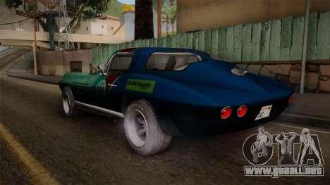 Chevrolet Corvette Coupe 1964 para GTA San Andreas left