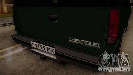 Chevrolet Suburban GMT400 1998 para visión interna GTA San Andreas