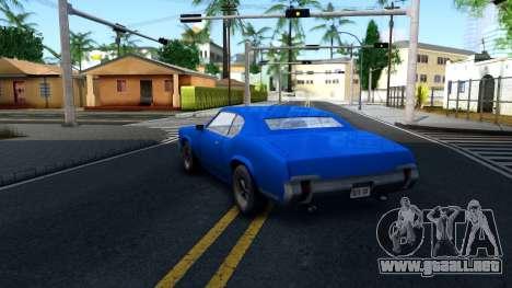 VC Xbox Sabre para GTA San Andreas vista posterior izquierda