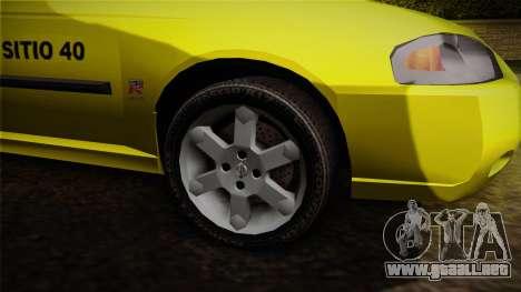 Nissan Sentra Taxi para GTA San Andreas vista hacia atrás