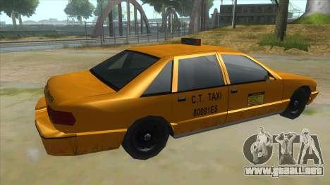 New Taxi para la visión correcta GTA San Andreas