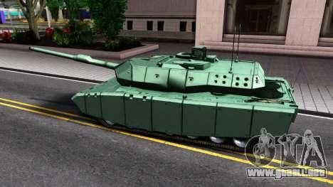 Leopard 2A7 para GTA San Andreas vista posterior izquierda