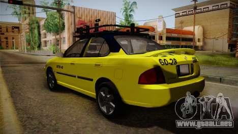 Nissan Sentra Taxi para GTA San Andreas left