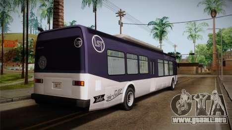 GTA V Transit Bus para GTA San Andreas left