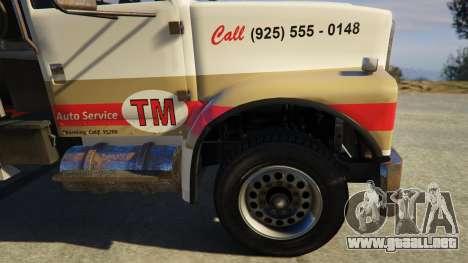 GTA 5 Teller-Morrow Towtruck from SOA vista lateral trasera derecha