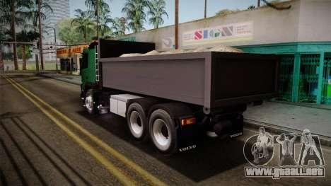 Volvo FMX dump Truck para GTA San Andreas left