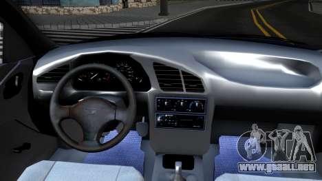 Daewoo Lanos para visión interna GTA San Andreas