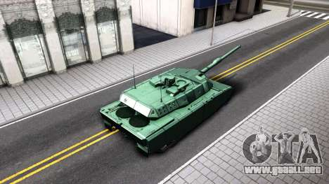 Leopard 2A7 para GTA San Andreas vista hacia atrás