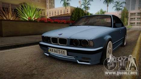 BMW Serie 5 E34 ЕК para la visión correcta GTA San Andreas