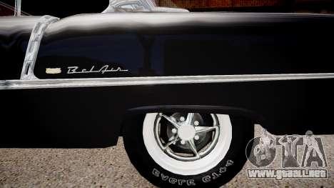Chevrolet BelAir Sport Coupe 1955 para GTA 4 vista hacia atrás